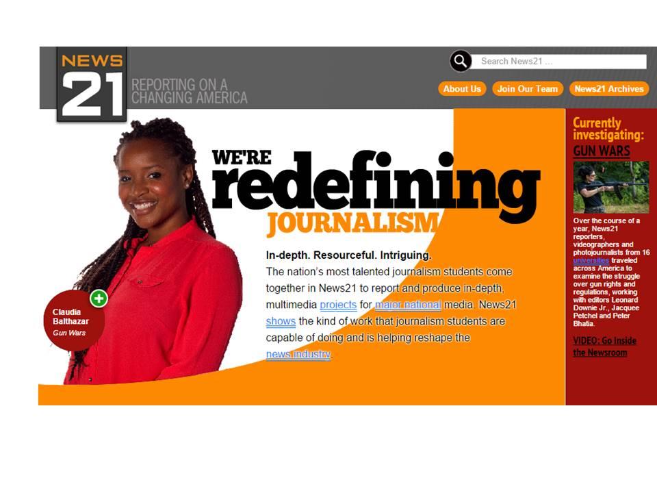 News21 homepage